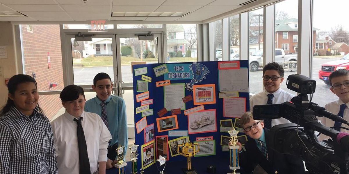 Middle school students invent device that controls a car's temperature