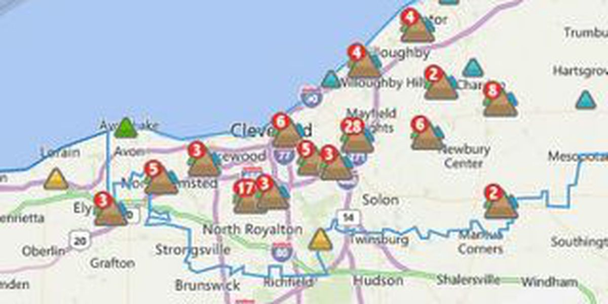 Severe weather causes power outages on michigan public access map, michigan power outages map, northwestern energy power territory map,