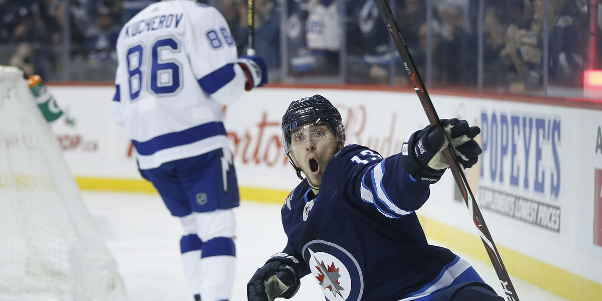 Scheifele scores in OT, sends Jets past Lightning 5-4