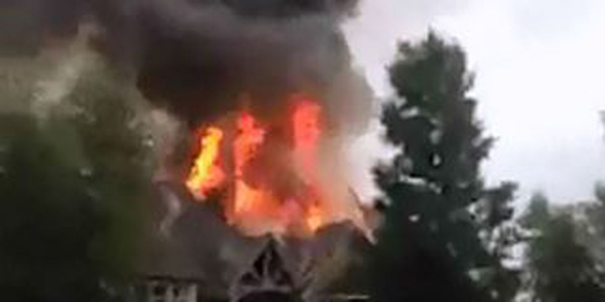 Lightning strikes home, fire damage estimated in the millions