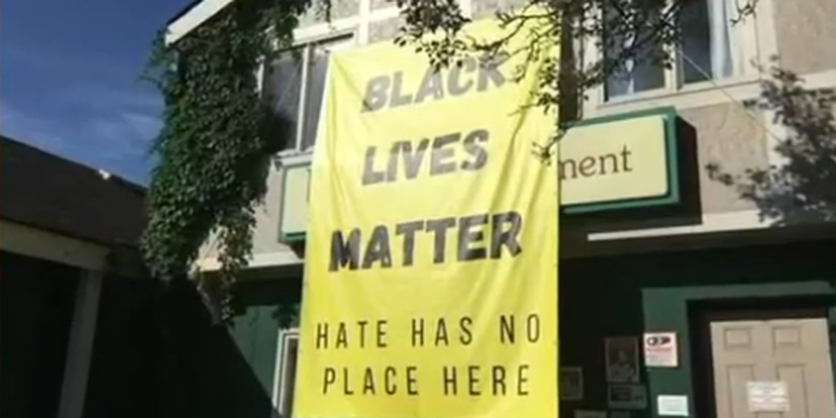 Thieves steal nearly 40-foot Black Lives Matter banner from Slavic Village non-profit