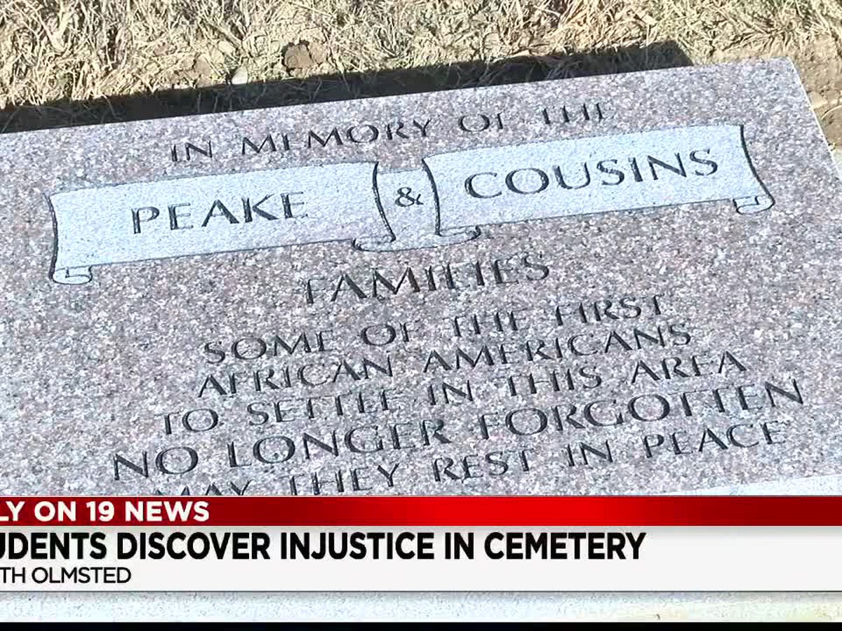 Ohio students uncover and mend grave injustice at historical cemetery