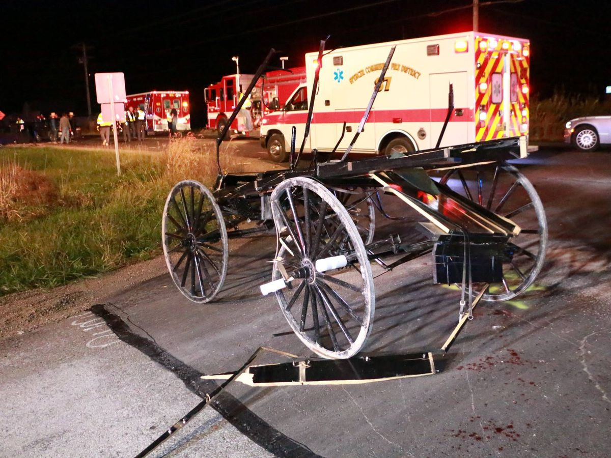Life flight transports multiple victims after horse buggy crash in Ashland