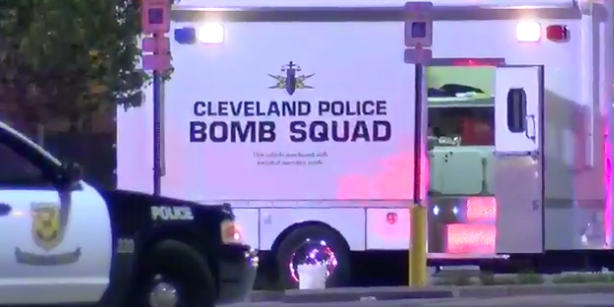 Cleveland bomb squad destroying possible explosive device taken Wednesday night