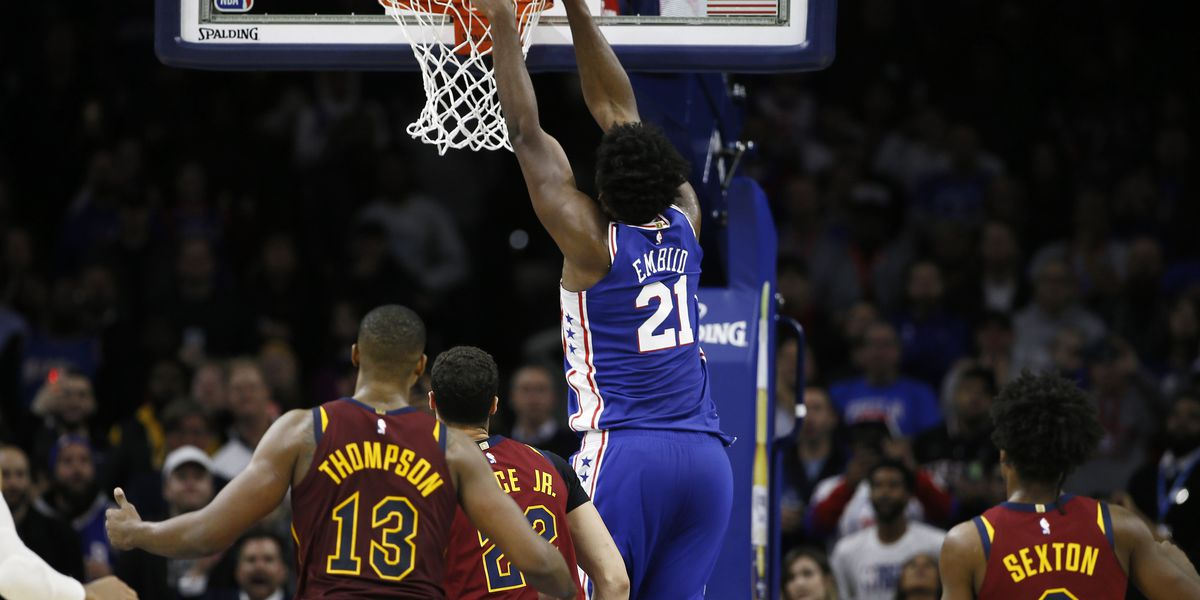 Embiid scores 27, leads 76ers past Cavaliers 98-97