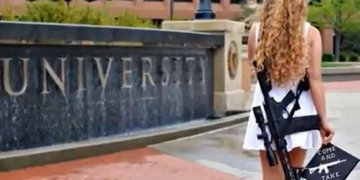 Kent State grad with rifle challenges Parkland shooting survivor to arm wrestling match