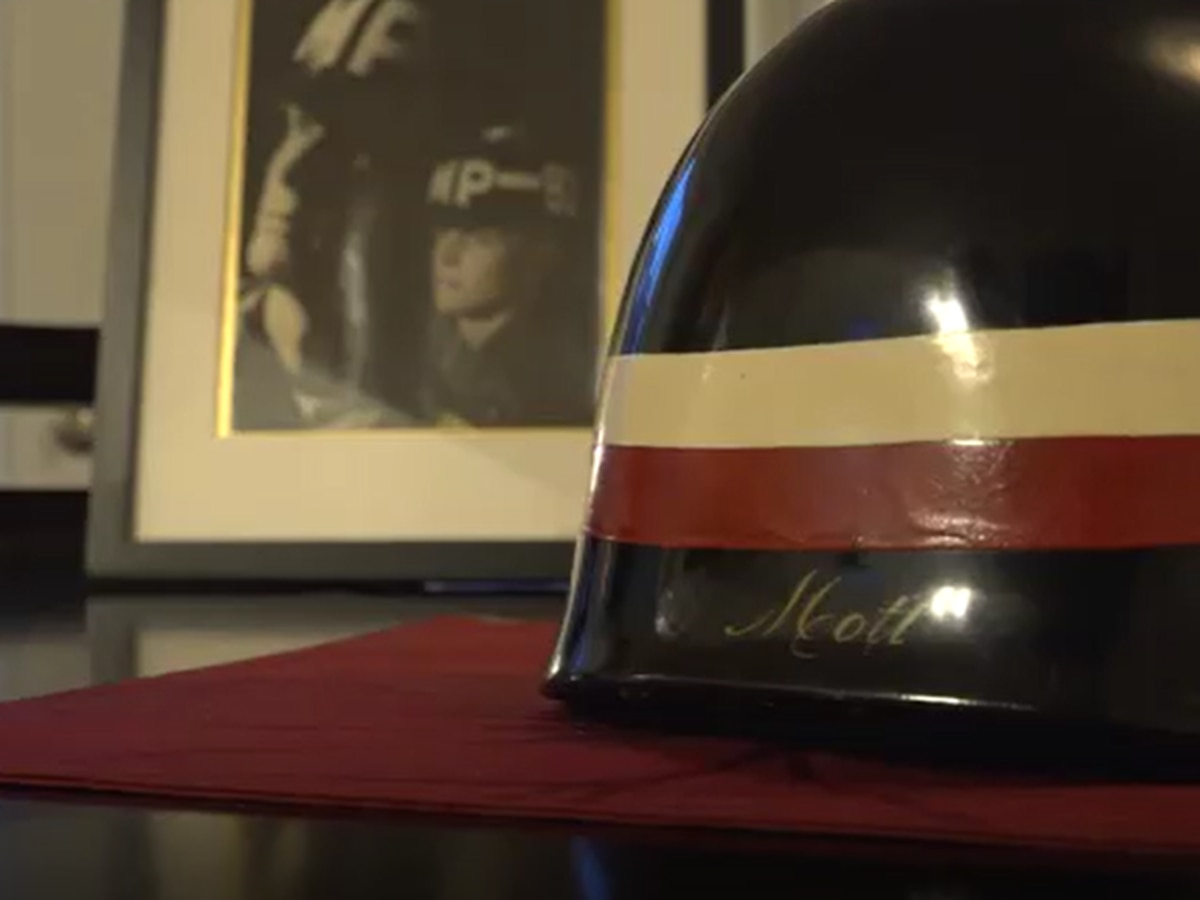 Teen flies to Australia to track down grandpa's Vietnam War helmet missing for 50 years