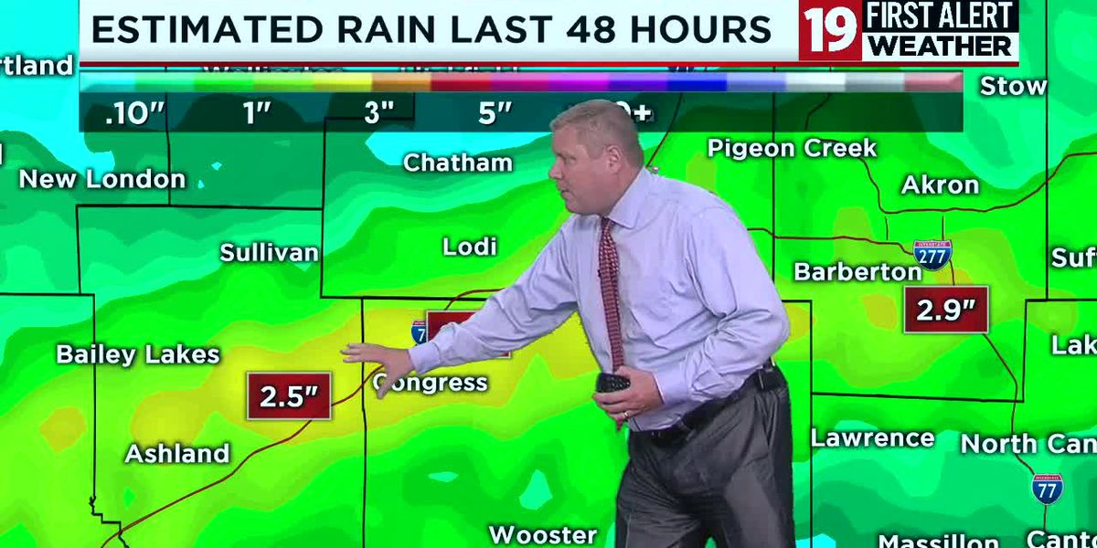 Northeast Ohio weather: More rain, thunder on Monday