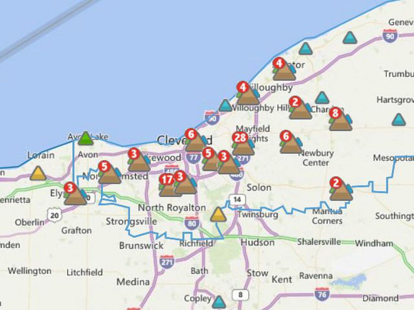 Severe weather causes power outages