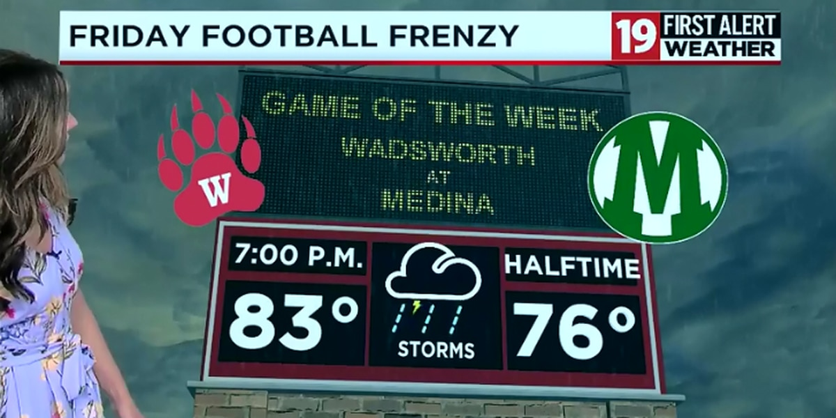 Friday Football Frenzy: severe weather moves up game times throughout Northeast Ohio