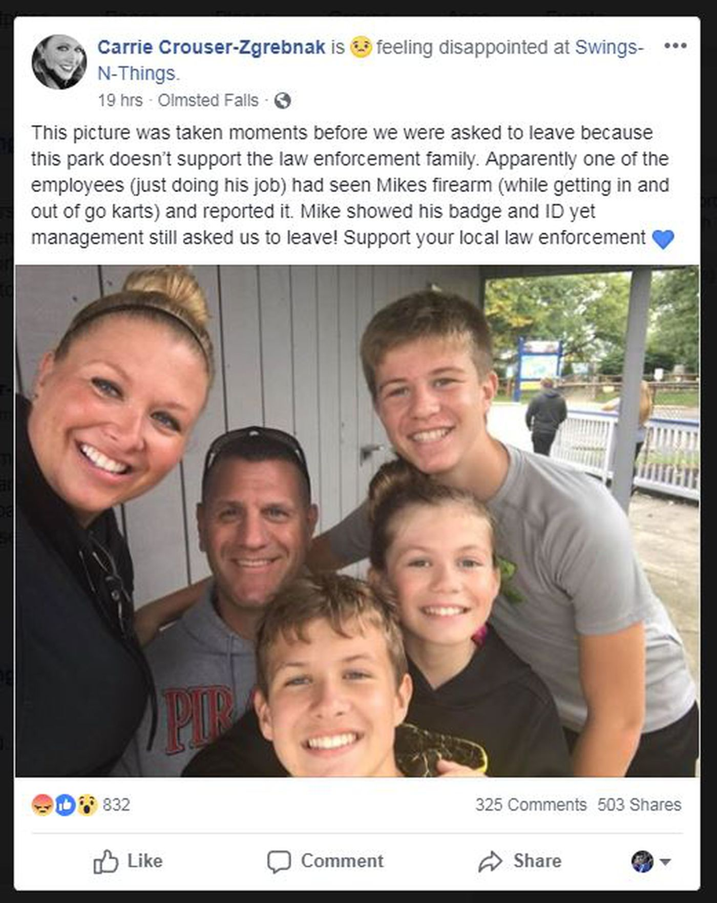 Lake County deputy's wife claims family was asked to leave