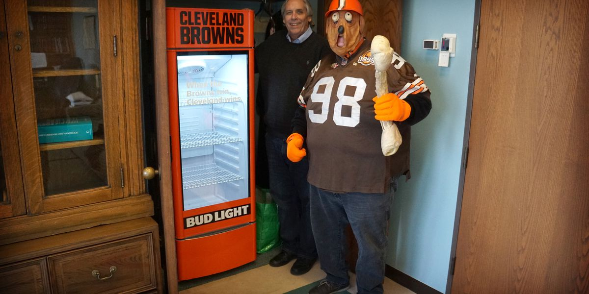 1 Cleveland Browns victory fridge has a new job, waiting for Super Bowl win