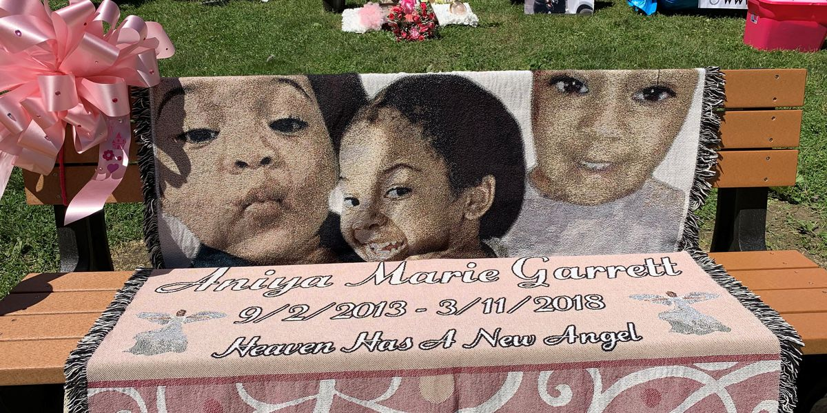 Family, community gather to dedicate bench in memory of slain Aniya Day-Garrett