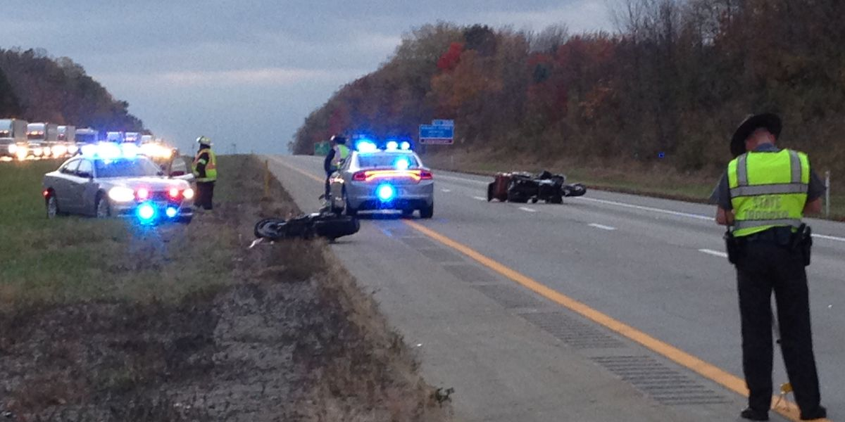 Double motorcycle crash, overturned car snarl traffic on I-90 in Lake County (photos)