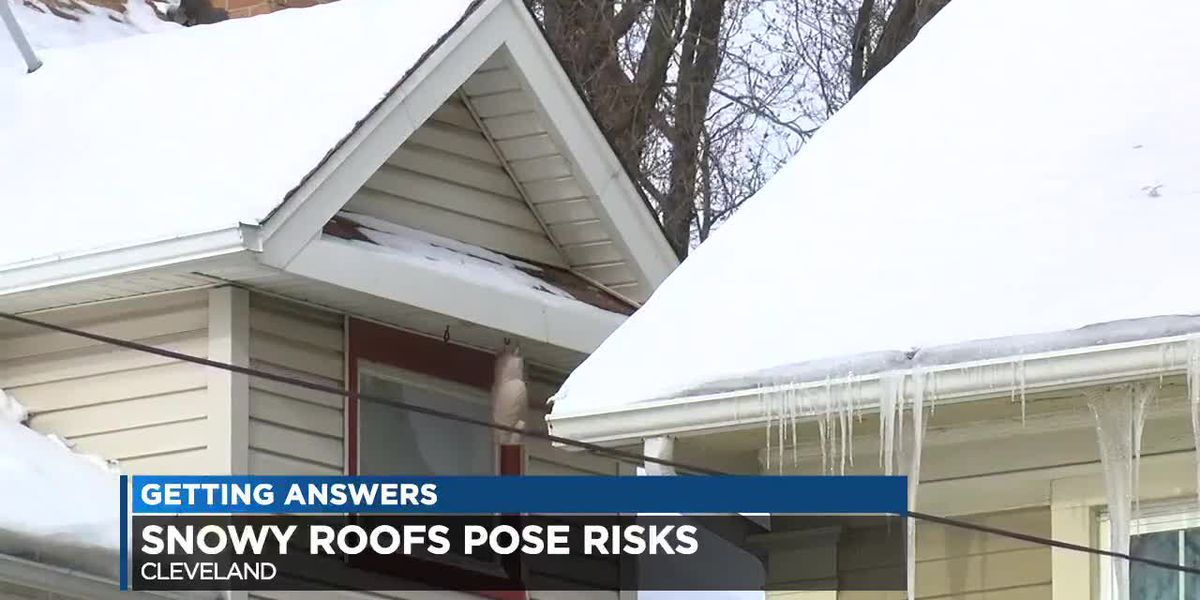 Snowy rooftops pose risks ahead of heavy rain, warming weather