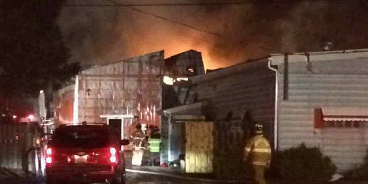 Fire crews battle blaze near Browns training camp