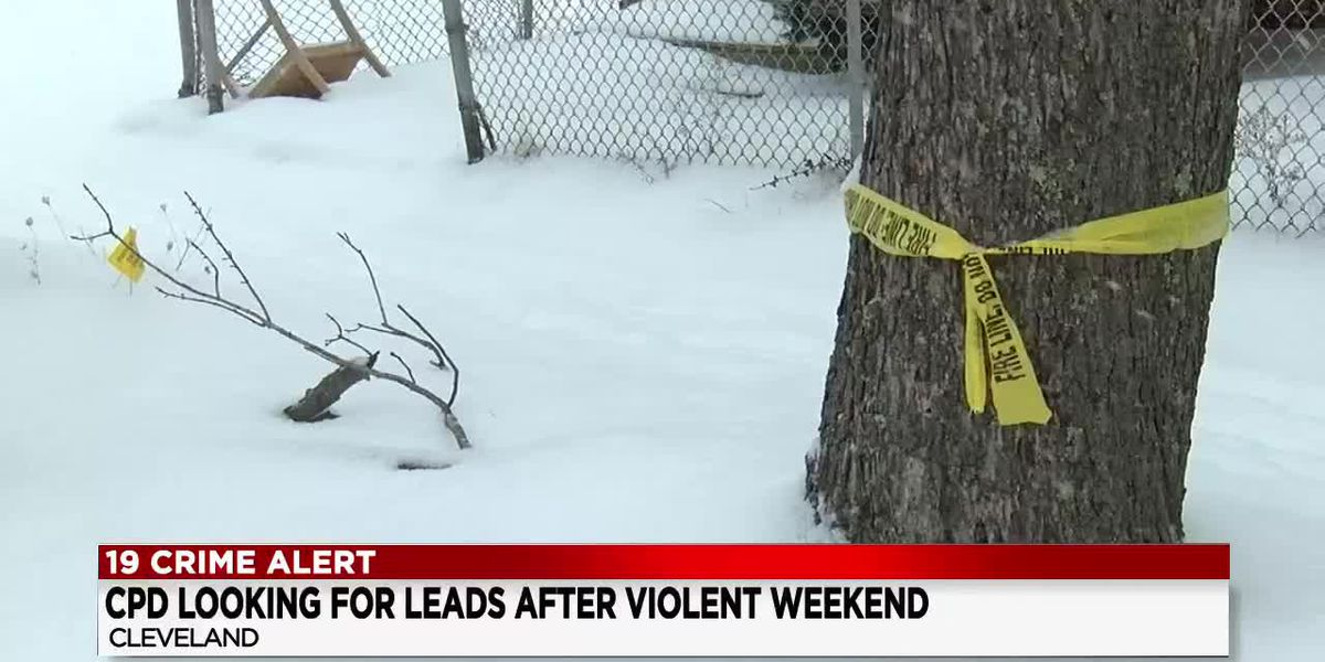 Violent weekend in Cleveland included 1 homicide, 4 other shootings, 2 stabbings
