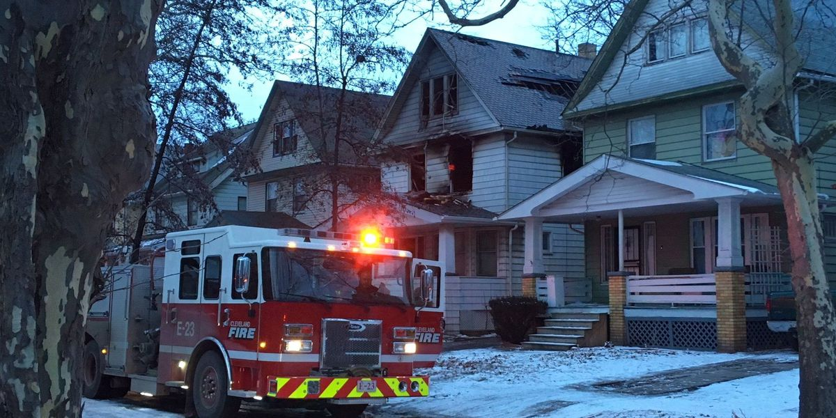 Fire rips through Cleveland home; residents displaced