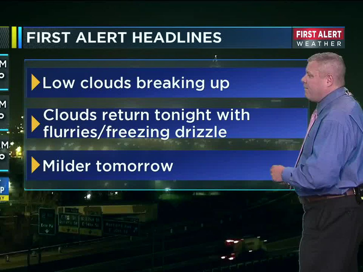Northeast Ohio weather: A few flakes will fly tonight