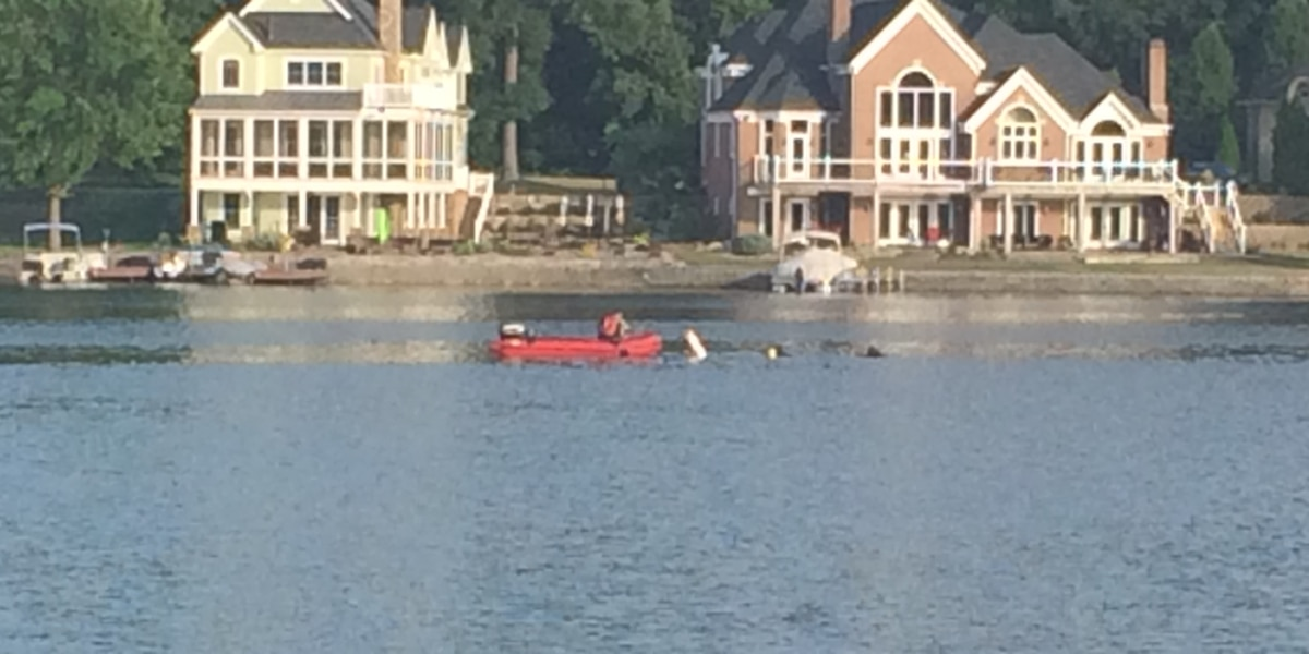 Crews search for man who went under at marina south of Akron