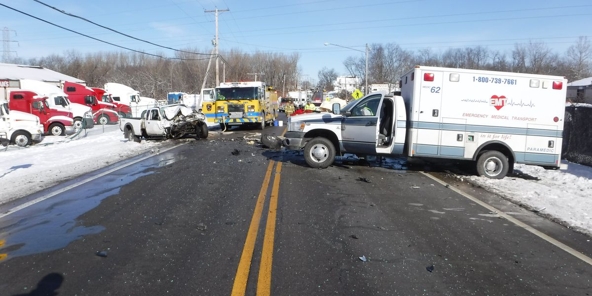 Waynesburg: Driver crashes into ambulance after dropping cell phone