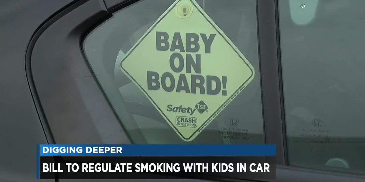 Smoking with young kids in the car could be banned in Ohio