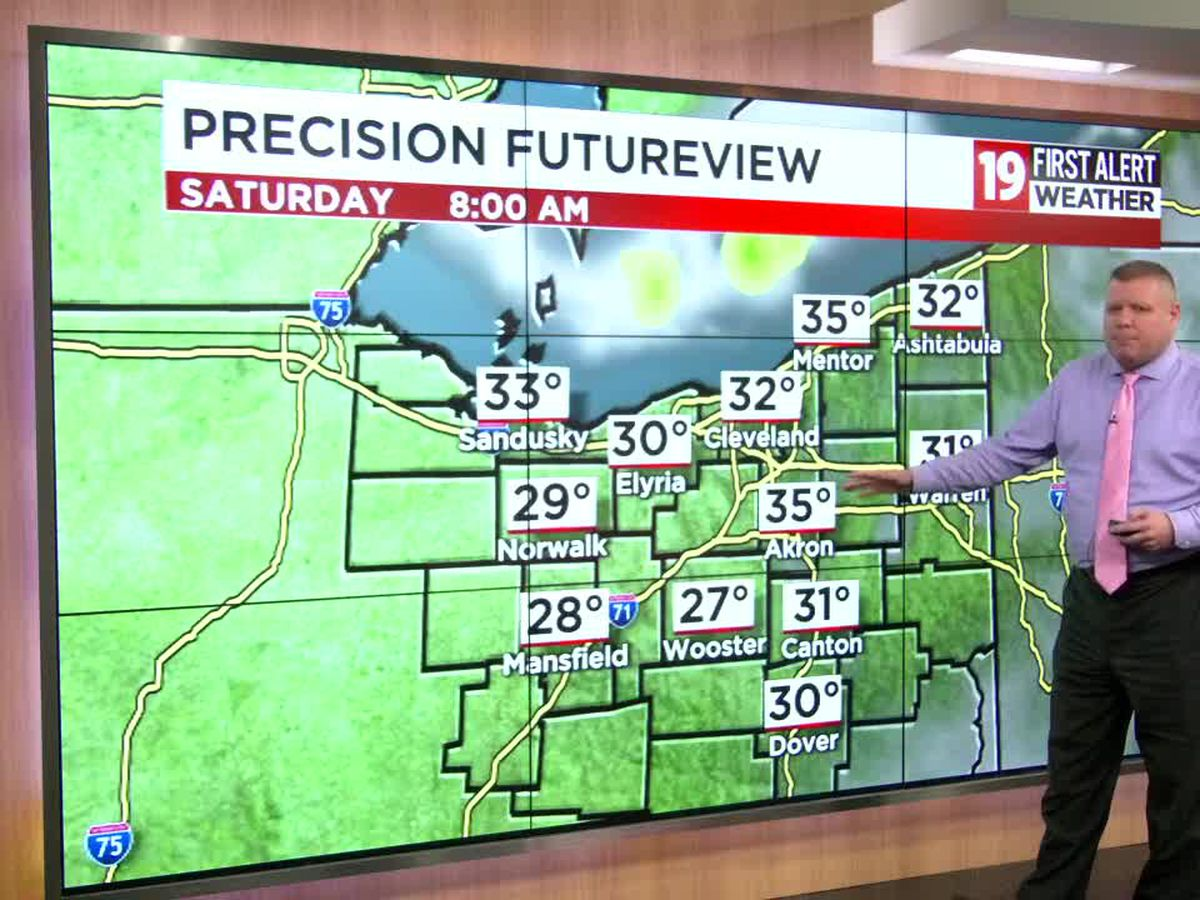 Northeast Ohio Weather: Blustery and chilly today with lake effect rain; Temperatures low-mid 40s