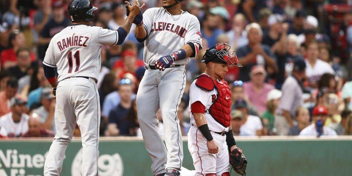 Encarnacion homers twice, Indians beat Red Sox 7-3