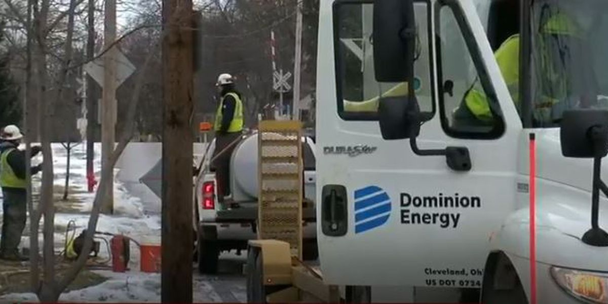 Dominion nearly done restoring gas service to some Rocky River homes