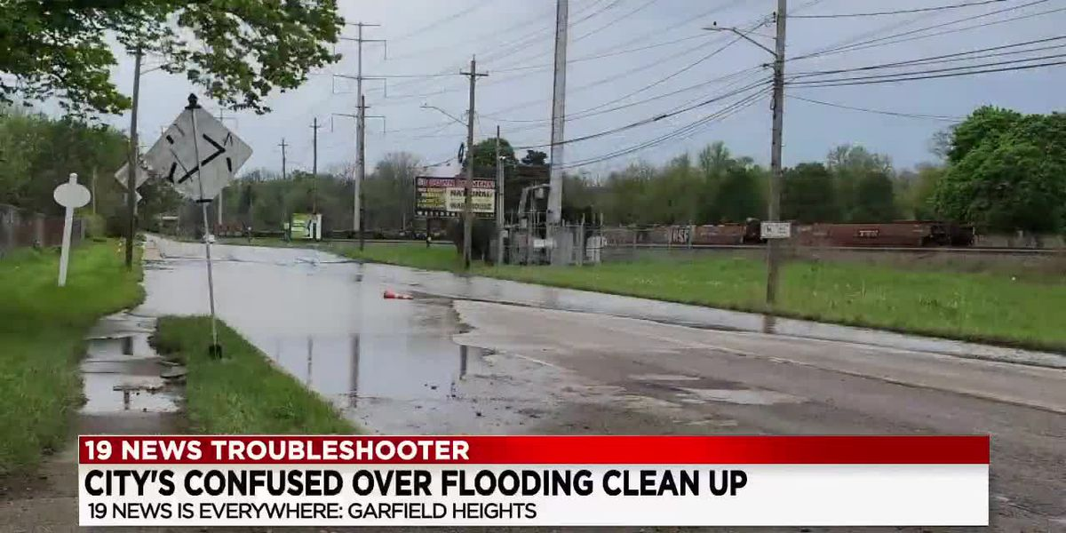 Company says dispute between 2 cities reason flooding continues at businesses near Cleveland/Garfiel