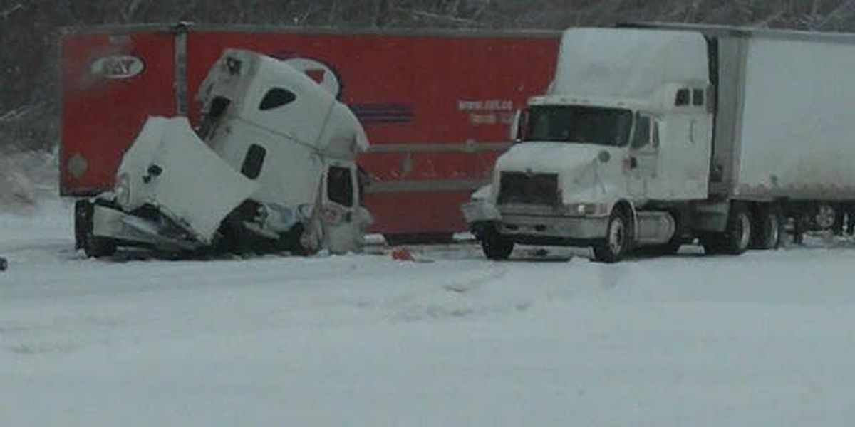 16 injured in multi-vehicle crash on I-90 during snowstorm