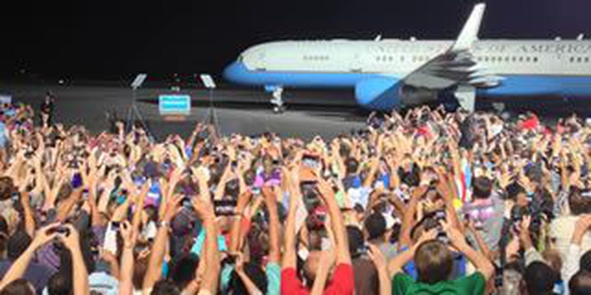 Burke Lakefront Airport home to Air Force One, for a day
