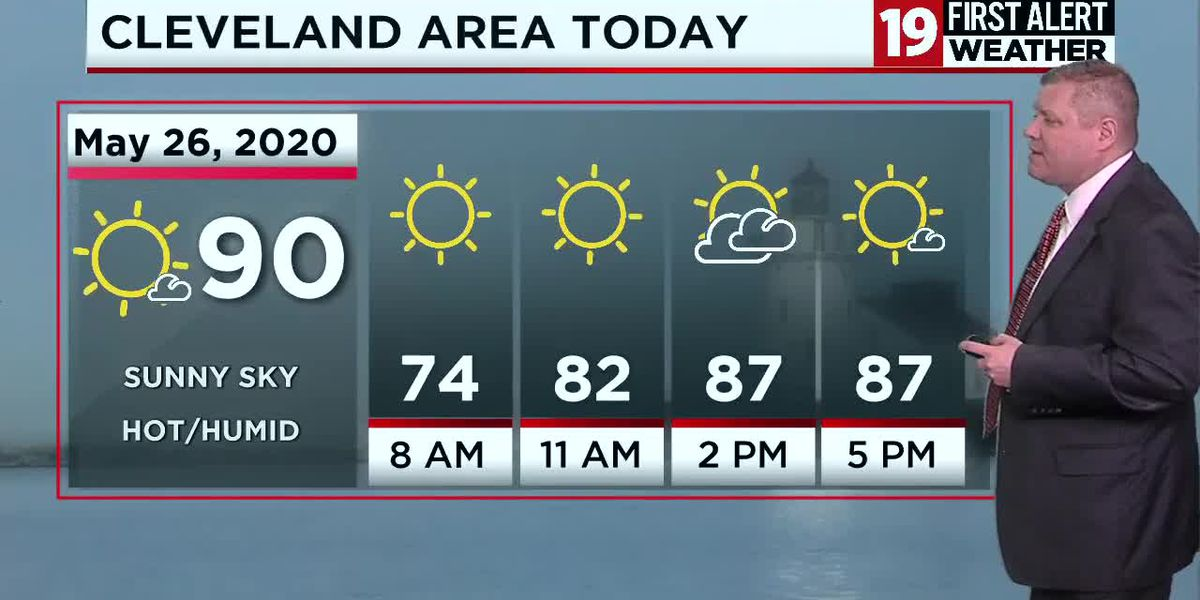 Northeast Ohio Weather: Sunshine, near 90 degrees, and humid today
