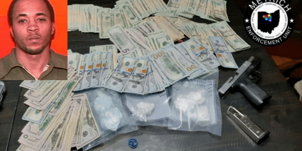 Mansfield officers seize over $40,000 in narcotics from accused drug trafficker