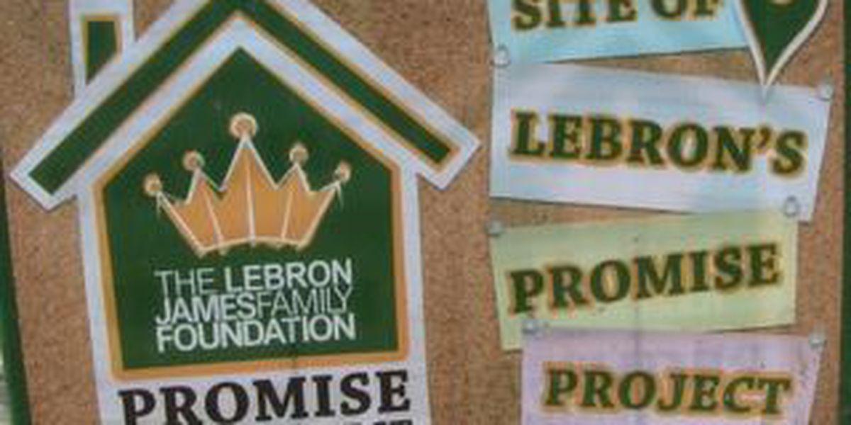 LeBron James rehabs home for Akron family