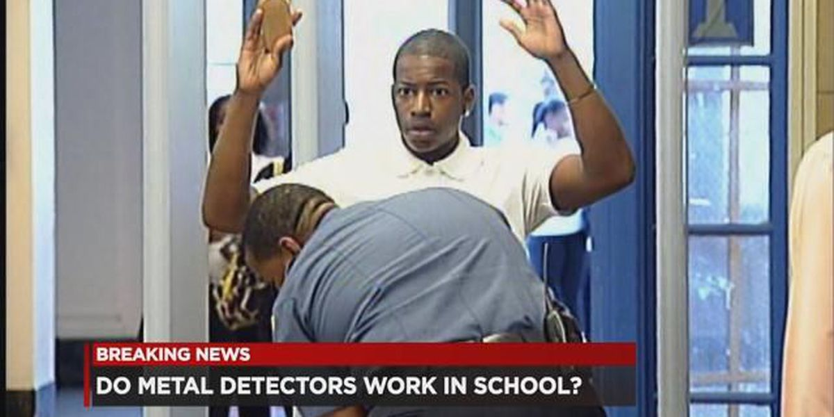 Which Ohio schools have metal detectors in them? (map)