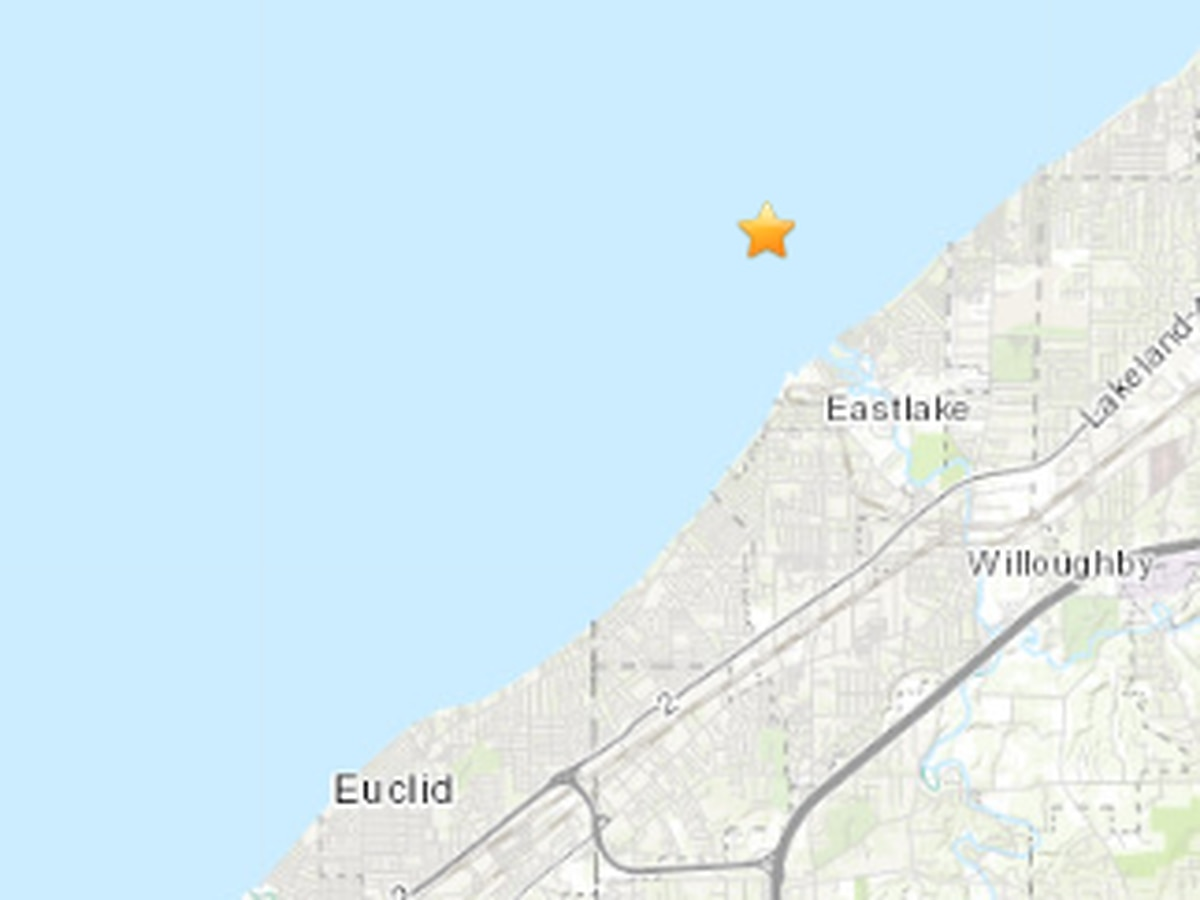 USGS confirms 2.6 magnitude earthquake centered a couple miles off the coast of Eastlake shook Lake County