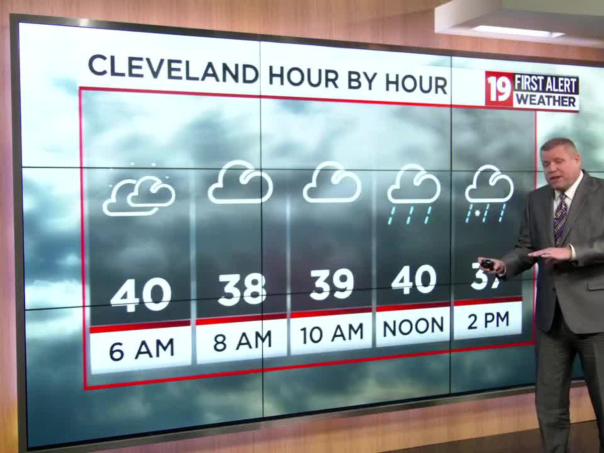 Northeast Ohio weather: Wintry mix ends by 8:00 PM, snow returns for the weekend