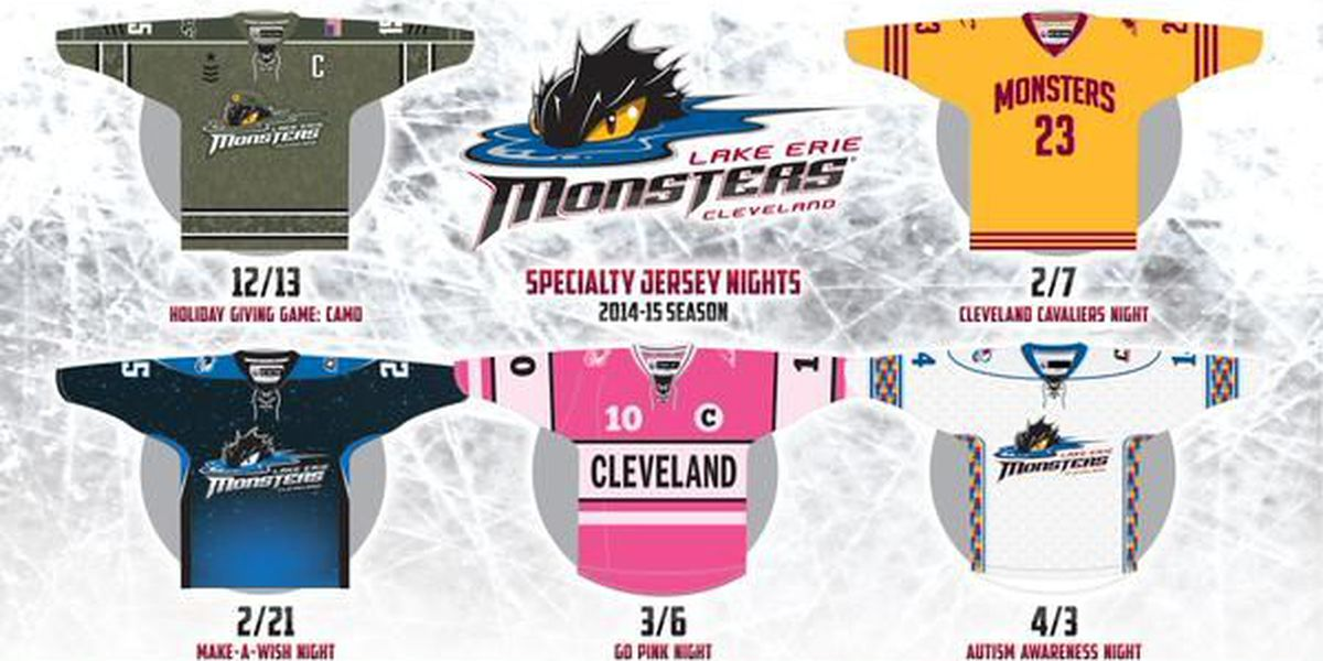 Lake Erie Monsters reveal Specialty Jersey Nights