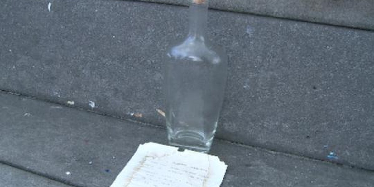 Man said he found decades-old message in a bottle