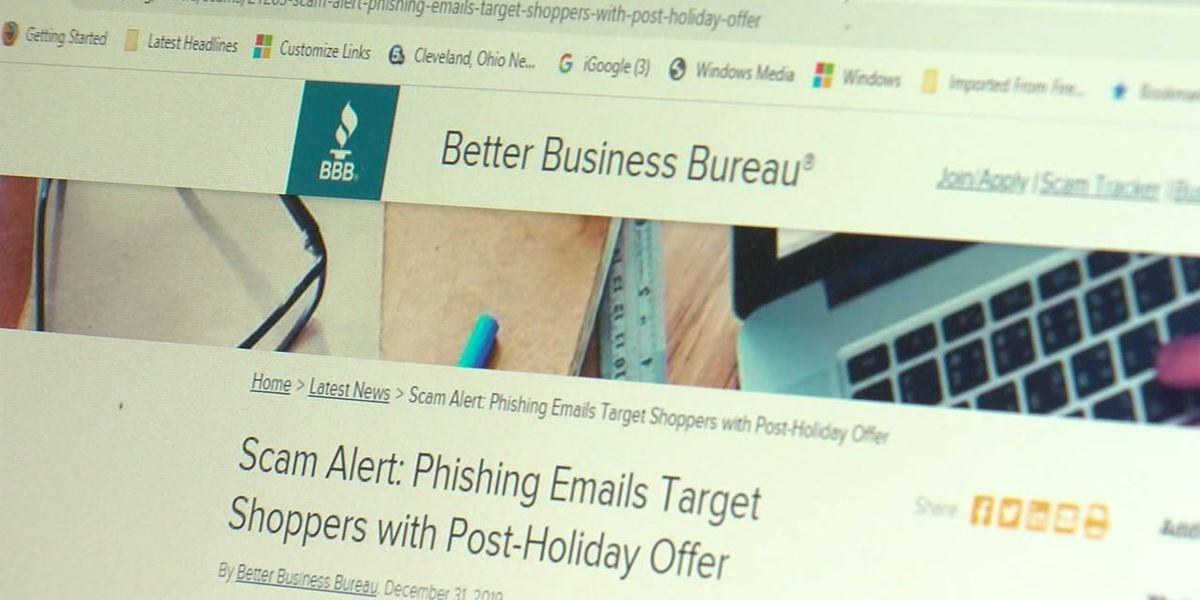 Better Business Bureau warns of post holiday text and email scams