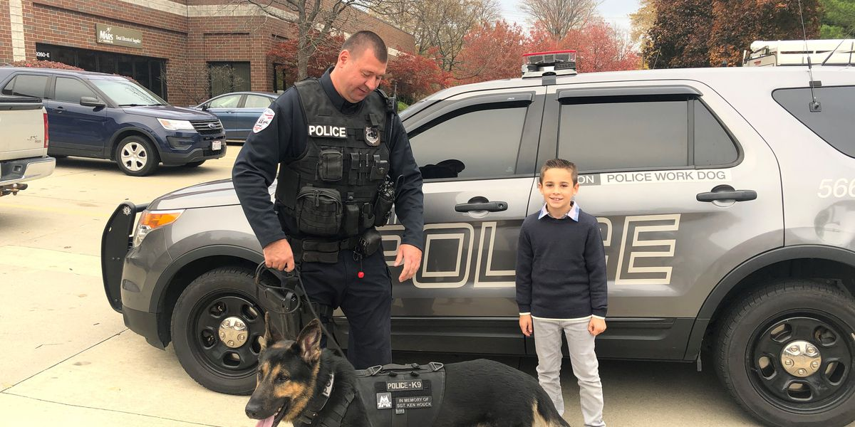 K-9 officer receives special vest thanks to 10-year-old Strongsville boy's fundraising efforts