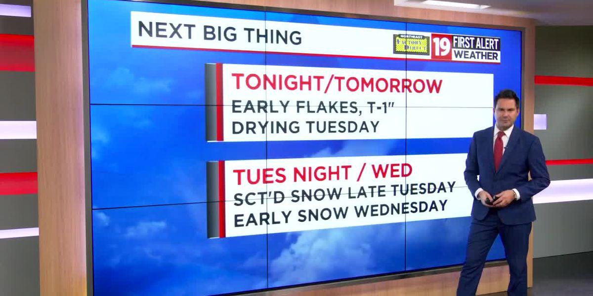 Northeast Ohio weather: Tracking a few flakes Monday night