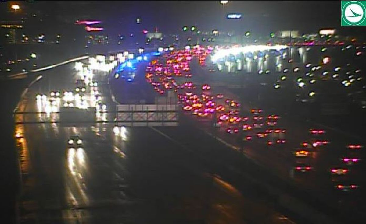 Accident on I-90 Eastbound near West 25th Street