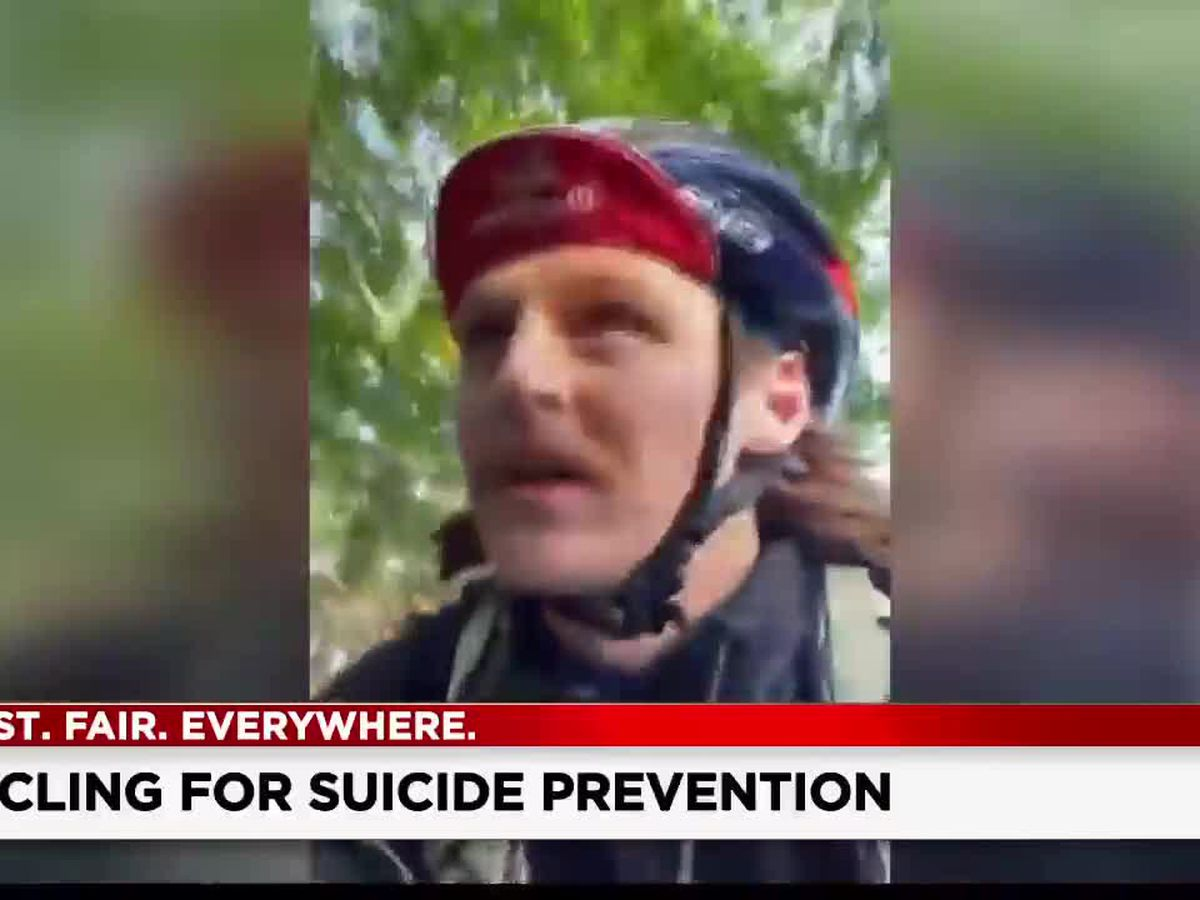 Cyclists riding from Cincinnati to Cleveland to raise awareness for suicide prevention