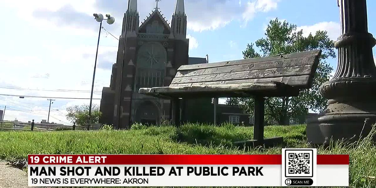 Man fatally shot in head while sitting on park bench in Akron