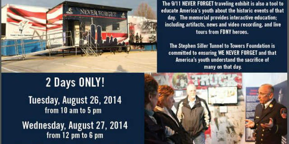 9/11 Never Forget exhibit in Medina