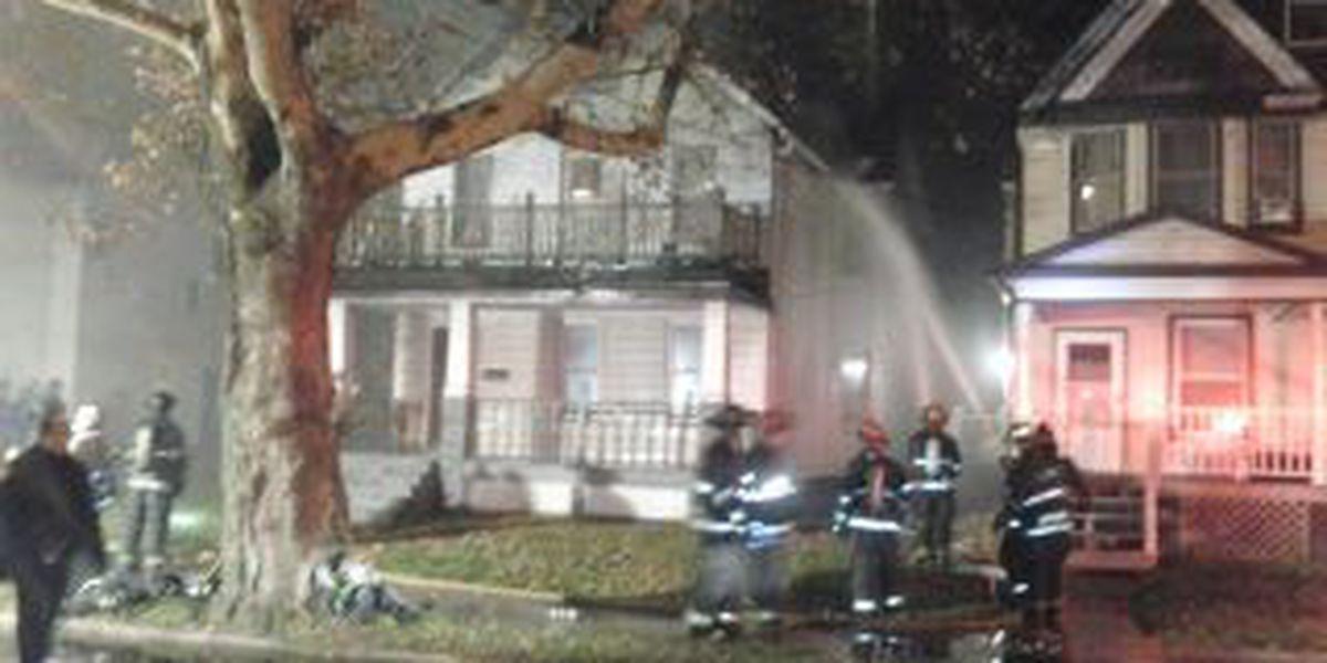 Firefighters battle house fire on Clark Ave.