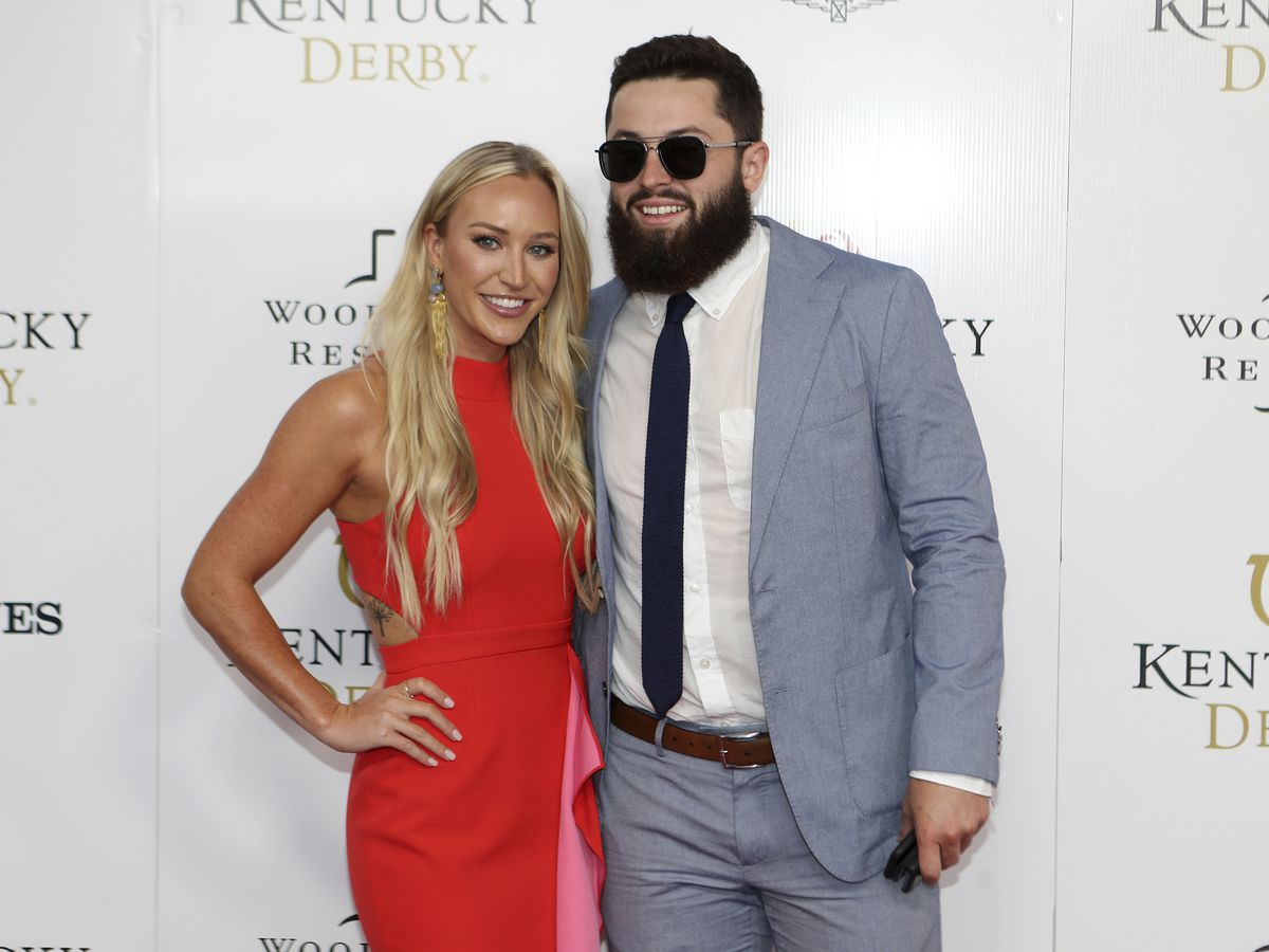 Baker Mayfield shares video from wedding: Watch the Cleveland Browns quarterback tear up when his bride walks the aisle