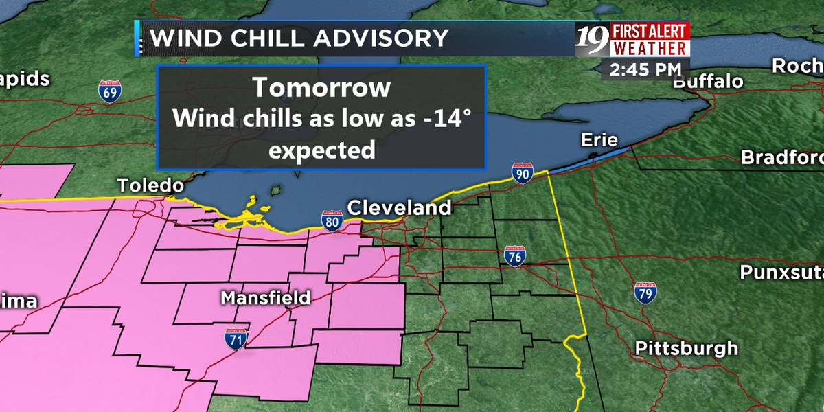 First Alert Weather Day: School closures coming in with below zero wind chills expected Friday